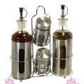 Glass Spice Jar and Galss Oil & Vinegar Bottle Set