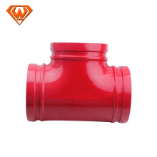 quality assurance system ductile cast iron grooved equal tee fittings grooved mechanical tee