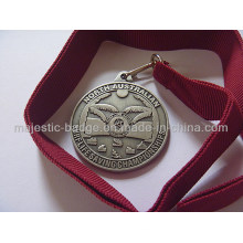 3D Medallion with Red Ribbon