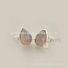 Оптовый Поставщик драгоценной камня стерлингового серебра 925 серьги