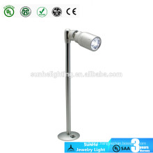 Rotating Adjustable 30 degrees led jewelry light CE focus led jewelry display lighting