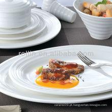 Série de linha dupla hotel branco talheres, louça, louça de porcelana