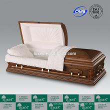 Cofrecillos de LUXES en línea americano Popular ataúd de madera con manija de cofre