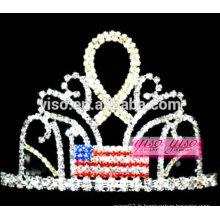 Les plus récents décorations de cheveux en ruban en cristal de bijoux en strass