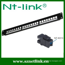 19 Inch 1U 24Port Cat.5E RJ45 Modular Patch Panel