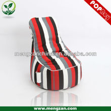 stripe big game beanbag chair , indoor use game beanbag chair