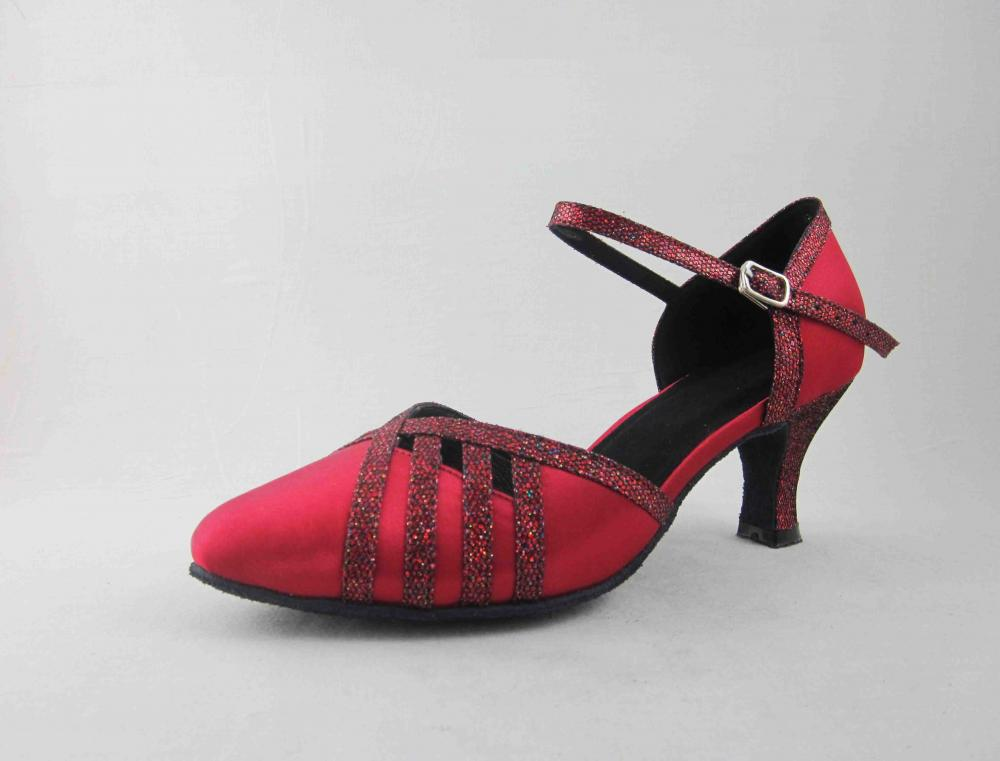 Girls Red Ballroom Shoes In