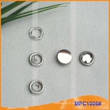 Prong Snap botão com tampa de metal