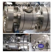 Válvula de esfera F316L de aço inoxidável Pn250 de alta pressão