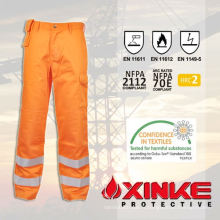 Le pantalon d'usure de travail de cargaison ignifuge de CVC