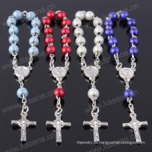 Großhandel gemischte Farbe Traum Kunststoff Perle Rosenkranz Armband