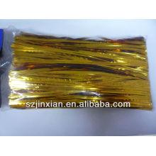 Corbata de torsión de alambre de metal recubierta de plástico PE precortada