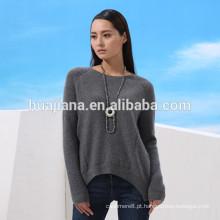 Vestido de confecção de malha de cashmere com design de moda