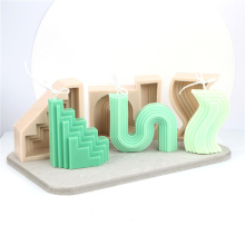 wholesale high quality unique 3d handmade soap mould silicone geometric candle molds twist