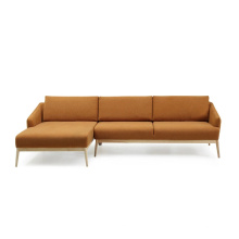 Modern Home Furniture Living Room Soft Sofa with Solid Wood Leg