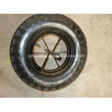 Neumático y tubo de bloque grande 400-8 para carretilla