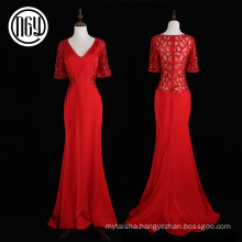 Modern design handmade women wedding crystal party dress