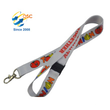 Wholesale Custom Whistle Retractable Personalized Heat Transfer Lanyard For Key