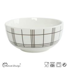 5.5 pouces en porcelaine blanche avec coupe découpée au riz