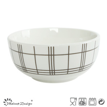 Белый фарфор 5.5inch с проверенным чашкой риса риса