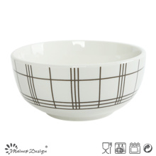 Porcelana blanca de 5.5 pulgadas con cuenco de arroz con etiqueta