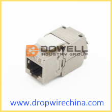 Mini Shielded Cat 6A Toolless Keystone jack