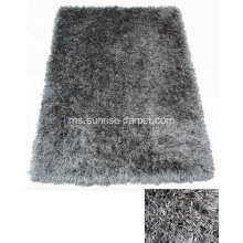 Poliester Viscose & Silk Shaggy mix Carpet