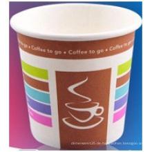Einweg 8 Unzen einzelne Tasse, heißes Getränk Cup Print Logo