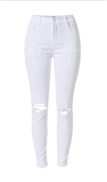 Venta al por mayor Jean Skinny-Leg Cut Cotton Jeans Women