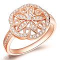 Big Flower CZ Diamond 925 Bijoux en argent sterling