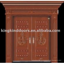 Роскошные медные двери Вилла наружные двери JKD-9006