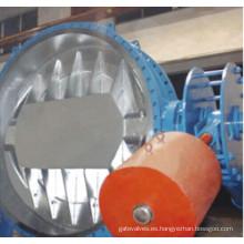 Válvula de mariposa de contrapeso hidráulico de alto rendimiento con bridas