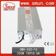 250W 15VDC 17A fuente de alimentación de conmutación LED controlador IP67 a prueba de agua