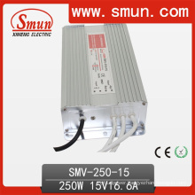250W 15VDC 17A Switching Power Supply LED Driver IP67 Waterproof