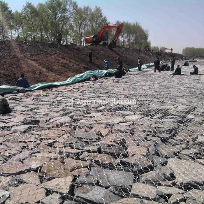 Hot-dip Galvanized Hexagonal Mesh Gabion Kasur