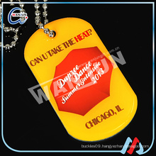 custom color printed dog tags in zinc alloy
