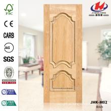 JHK-M02 Nuevo diseño de madera maciza Villa Interior Brich Veneer Natural Thailand Door Panel