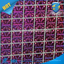 One time use Apenas adesivos personalizados vinil / glossing red holographic stickers