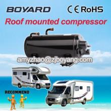 Compresseur horizontal r407c monté sur le toit pour climatiseur électrique caravane