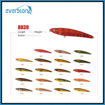 2/3.5g Type flottant/coulant Matériel de pêche au leurre de pêche