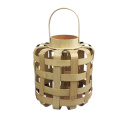 Small wide bamboo weaving storm lantern