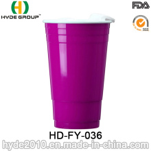 Double Wall Plastic Party Red Solo Cup with Lid