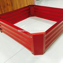 Cama levantada del jardín vegetal / caja de acero galvanizada del plantador