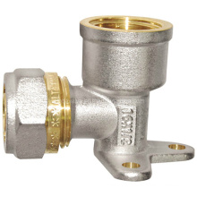 Brass Pipe Fitting - Wall-Plated Female Elbow (a. 0444)