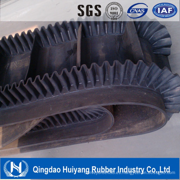 Banda transportadora de caucho / algodón / PVC / Nylon / Ep