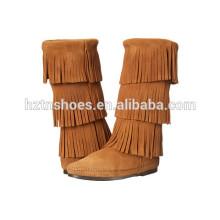 Bota longa da borla das botas longas das senhoras do estilo 2016