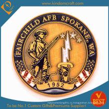 Оптовая пользовательская сувенирная 3D золотая металлическая медаль