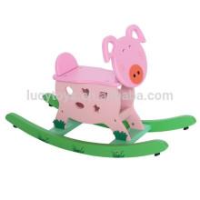 Brinquedos tradicionais cavalo de balanço de madeira para crianças