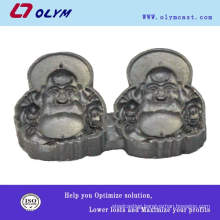 China OEM stainless steel lost wax casting laughing buddha statue parts