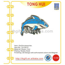 The shark shape metal imitation enamel hat clip